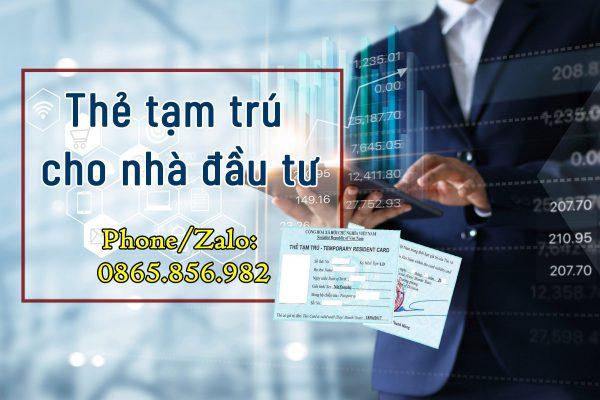 thẻ tạm trú đầu tư