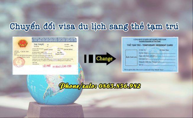 visa du lịch sang thẻ tạm trú