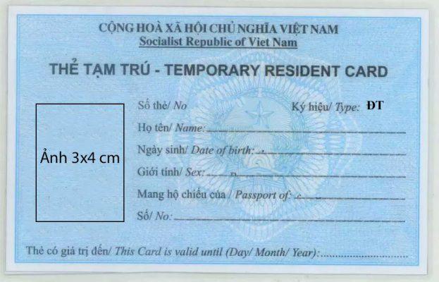 thẻ tạm trú làm việc