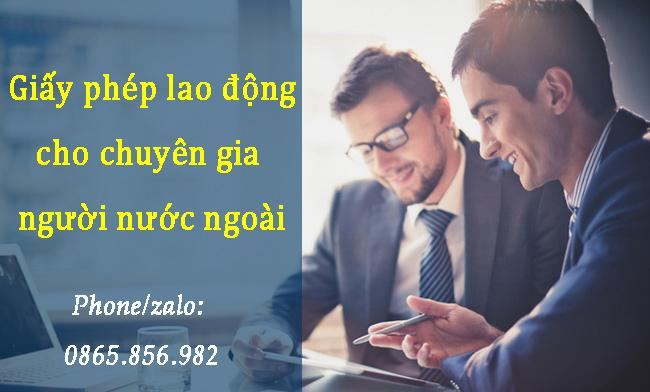 giấy phép lao động cho chuyên gia nước ngoài