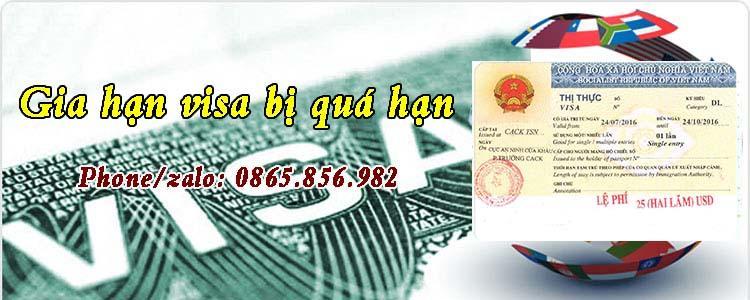 gia hạn visa bị quá hạn tại Việt Nam