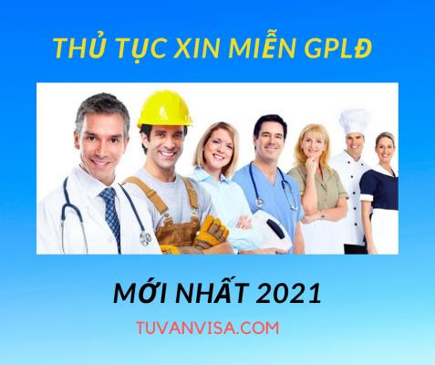 miễn giáy phép lao động động 2021