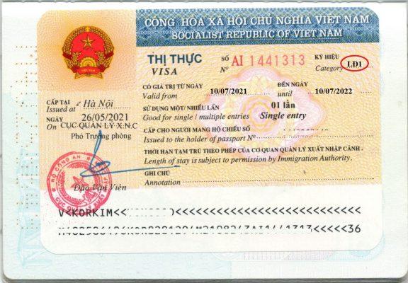 gia hạn visa lao động
